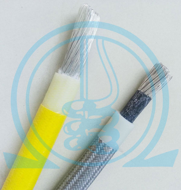 Silicone Insulated Fiberglass Braided Wires (200°C)
